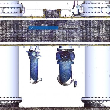 pointcloud overlay with 3d models of existing piping