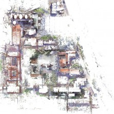 North quarter of a large scan to BIM project