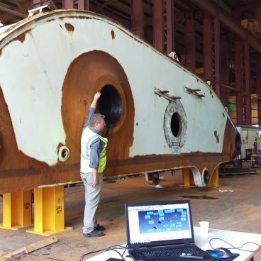 Inspection of Large Equipment using our Laser Tracker and laser scanner